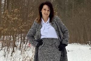Melanżowy płaszcz