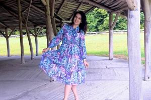 Szyfonowa sukienka