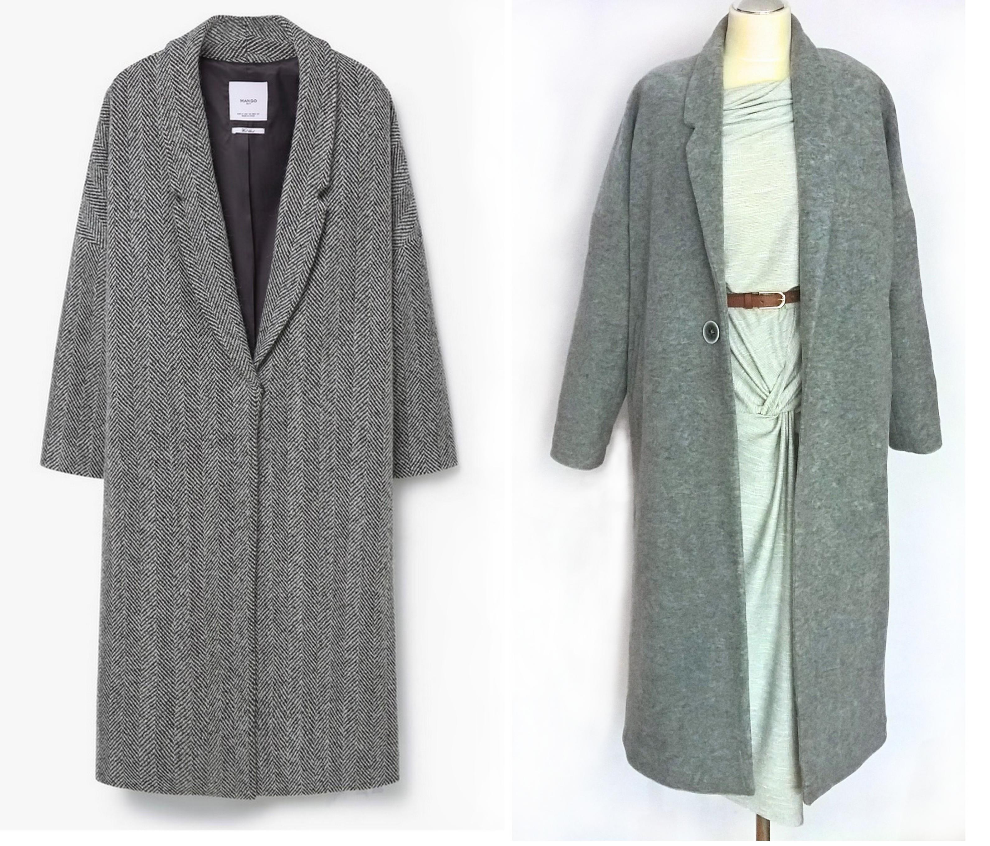 porównanie płaszczy