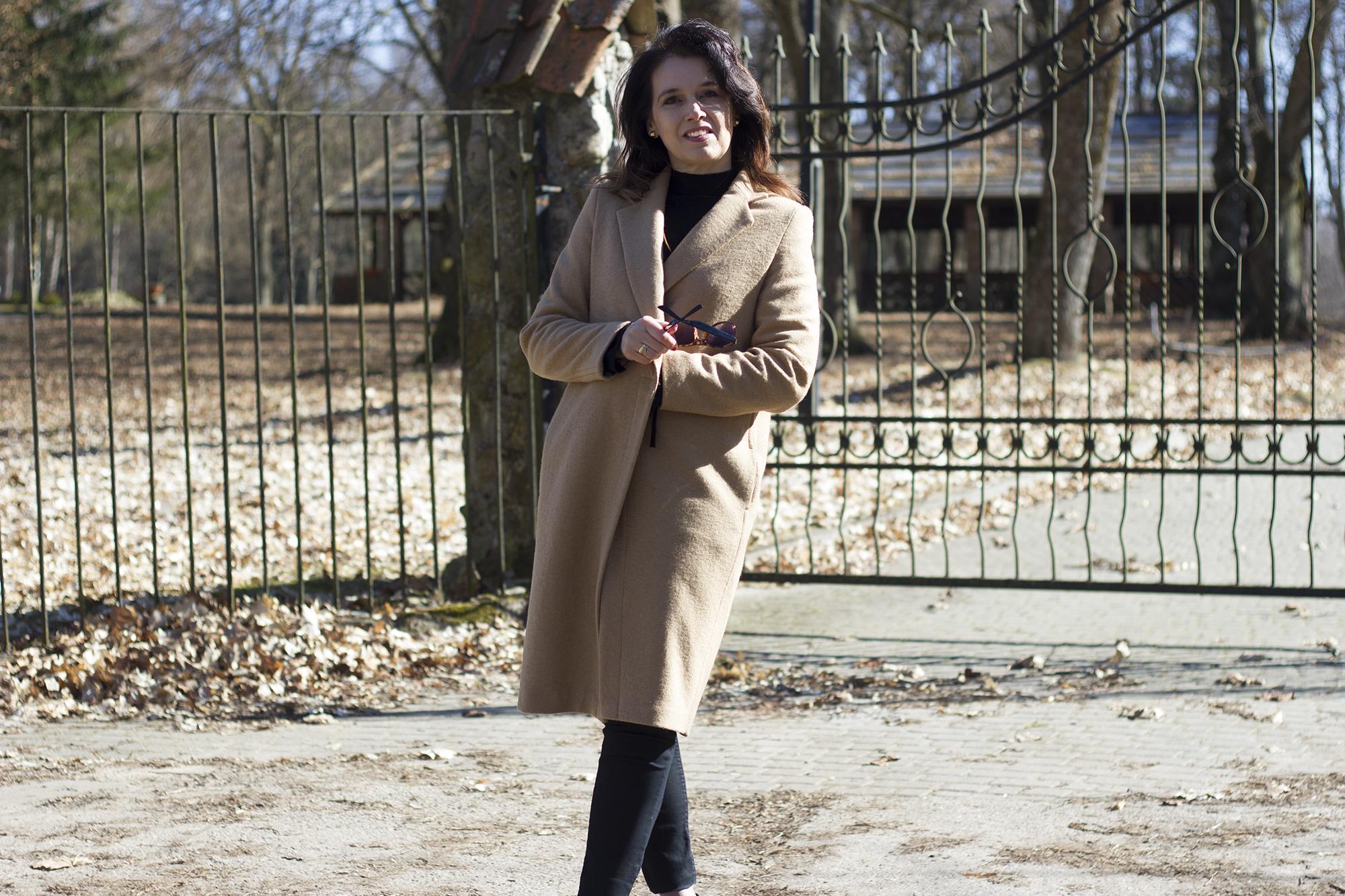 płaszcz bezowy