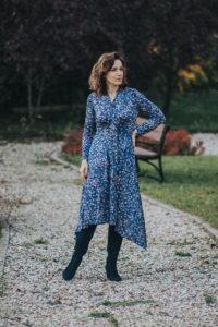 sukienka z jerseyu
